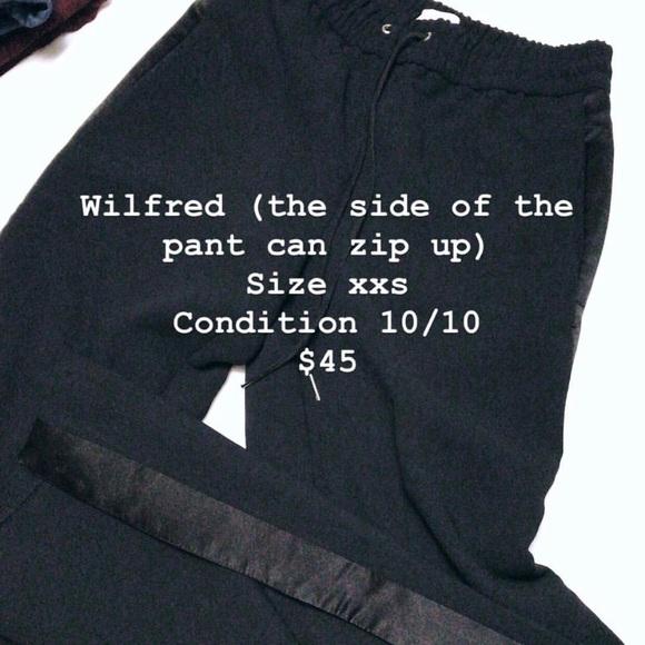 Wilfred Pants - Aritzia Wilfred black track pants